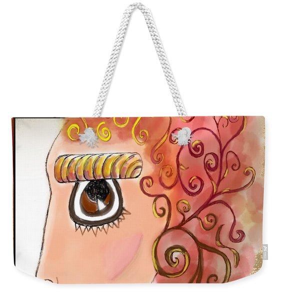 Athena In The Mirror Weekender Tote Bag