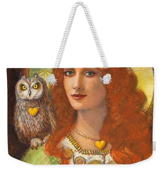 Athena And Her Owl- Wise Ones Weekender Tote Bag