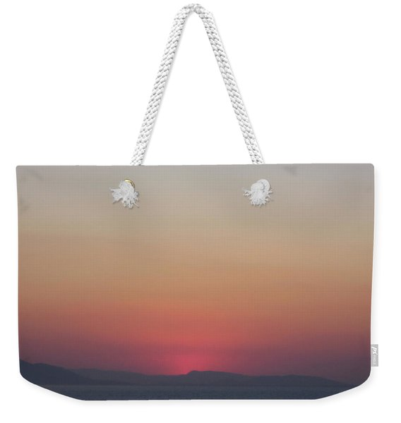 Athens Ombre Sunset Weekender Tote Bag