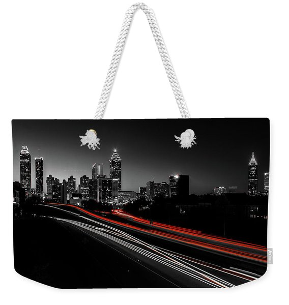 Atlanta Black And White Weekender Tote Bag