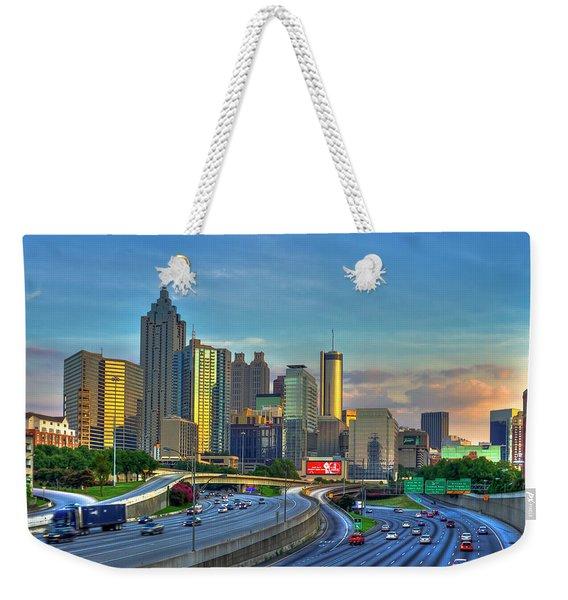 Atlanta Coca-cola Sunset Reflections Art Weekender Tote Bag