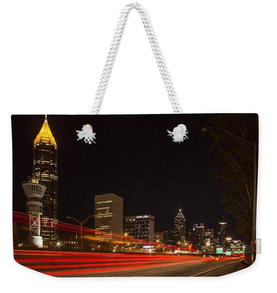 Atlanta Drive By Shooting Atlanta Night Art Weekender Tote Bag