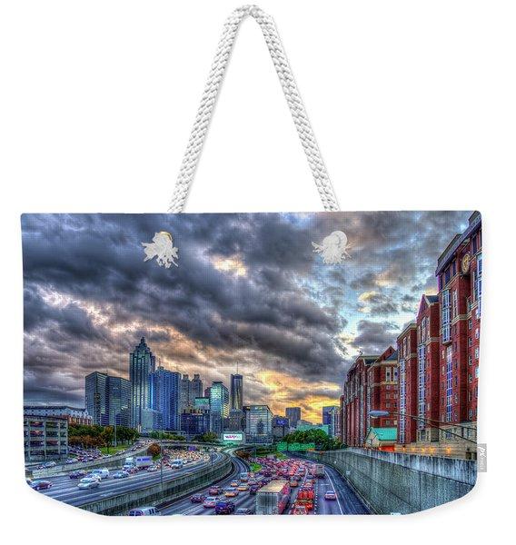 The Rush Is On Atlanta Downtown Atlanta Sunset Art Weekender Tote Bag