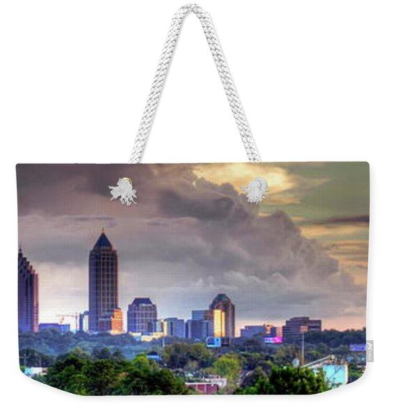Atlanta Wet Sunset Cityscape Art Weekender Tote Bag