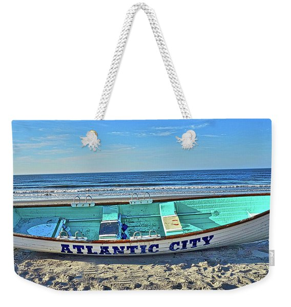 Atlantic City Rowboat Weekender Tote Bag