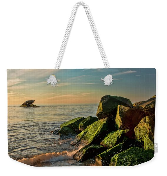 Atlantus Shipwreck Off The Jetty Weekender Tote Bag