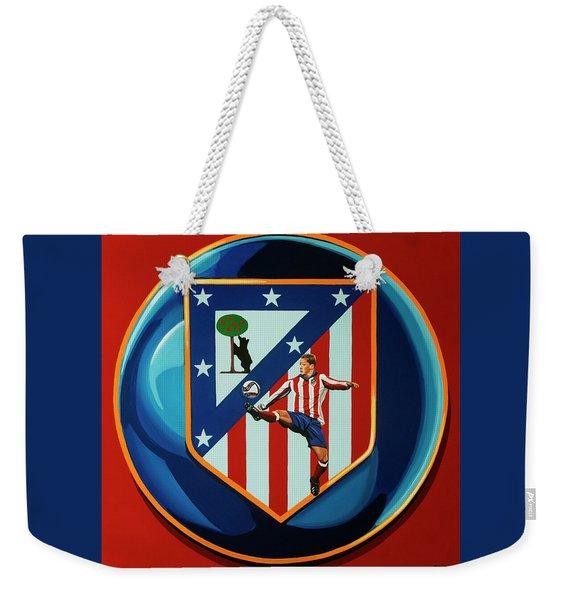 Atletico Madrid Painting Weekender Tote Bag