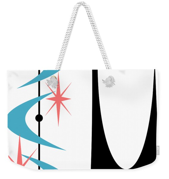 Atomic Cat Turquoise And Pink  Weekender Tote Bag