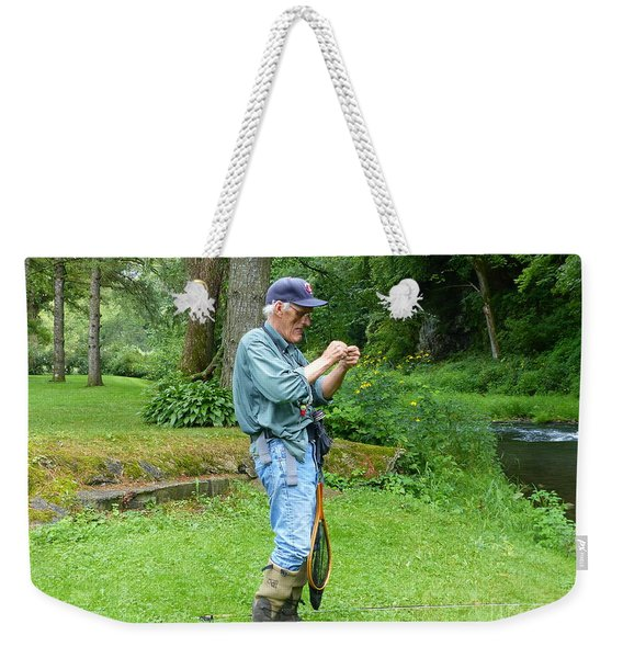 Attaching The Lure Weekender Tote Bag