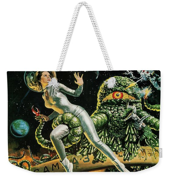 Attack Of A Great Slime, Vintage Sci-fi Movie From Japan Weekender Tote Bag
