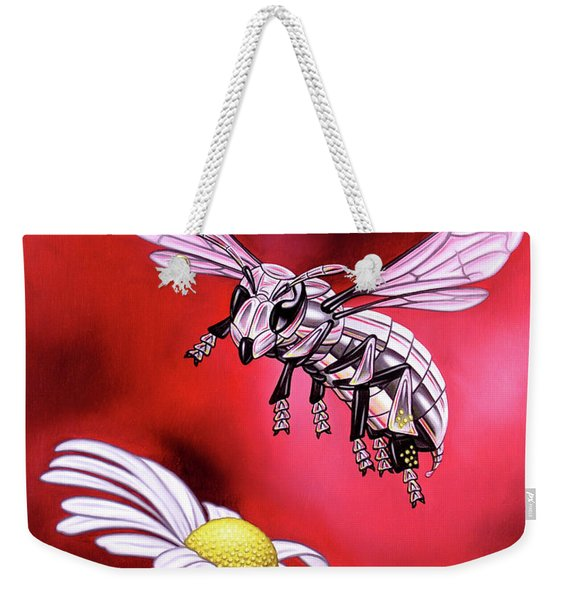 Attack Of The Silver Bee Weekender Tote Bag