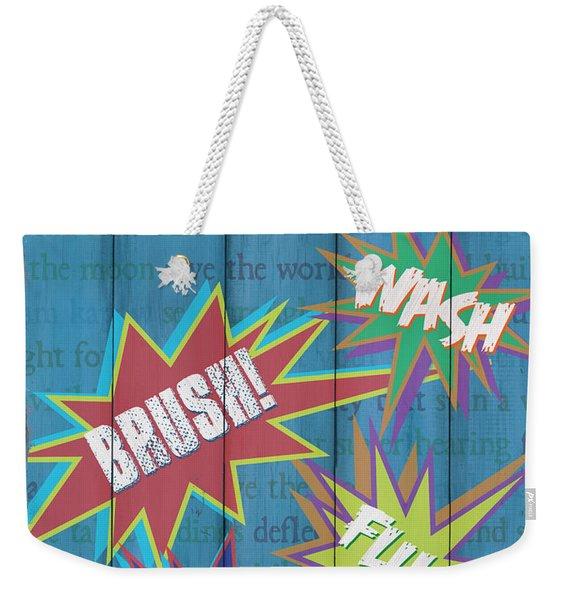 Attention Superheroes Weekender Tote Bag