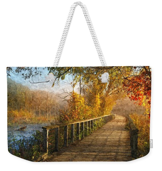 Atumn Emerging - Oil Paint Effect Weekender Tote Bag