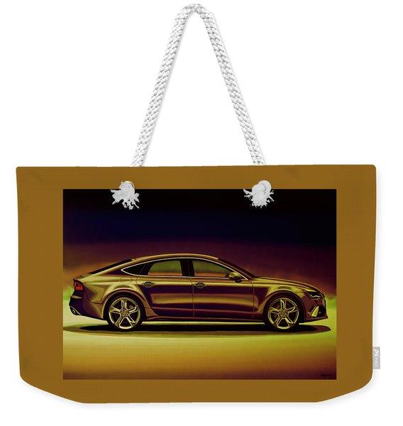 Audi Rs7 2013 Mixed Media Weekender Tote Bag