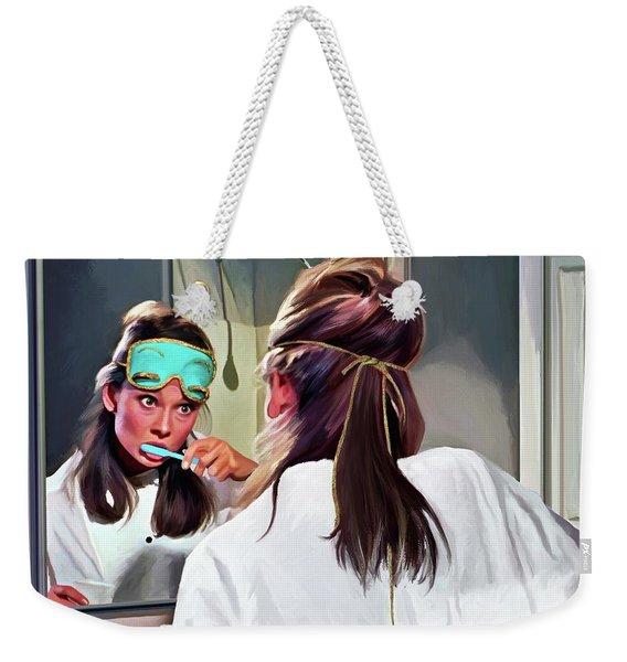 Audrey Hepburn @ Breakfast At Tiffanys #5 Weekender Tote Bag