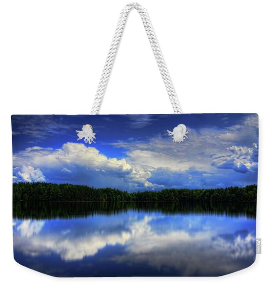 August Summertime On Buck Lake Weekender Tote Bag