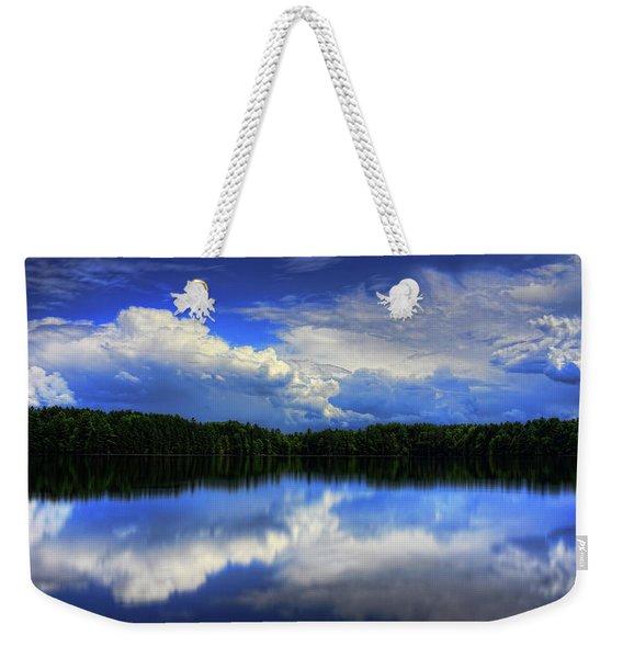 August Summertime On Buck Lake Weekender Tote Bag