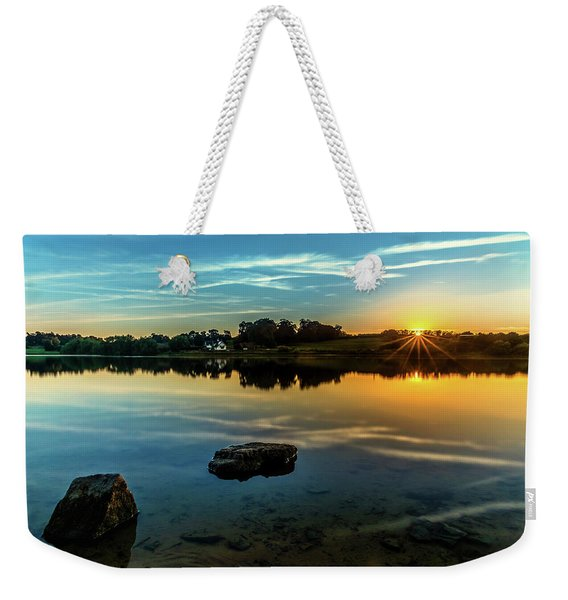 Weekender Tote Bag featuring the photograph August Sunset by Nick Bywater