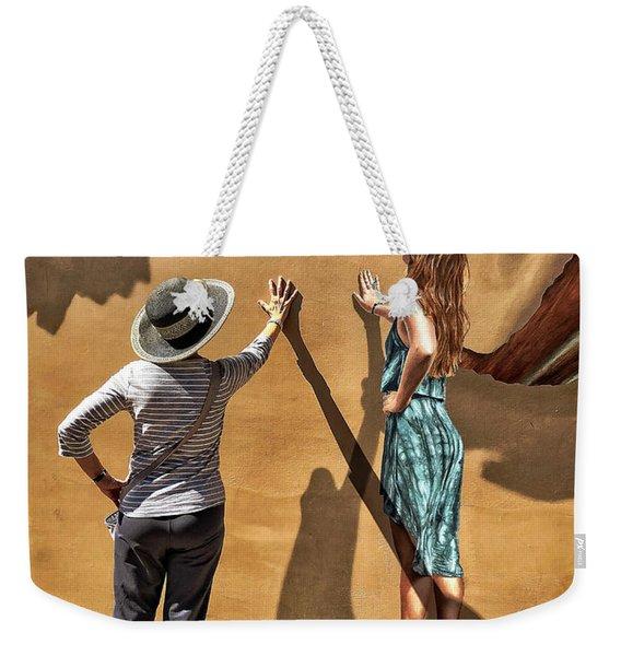 Aurora And The Mural Weekender Tote Bag