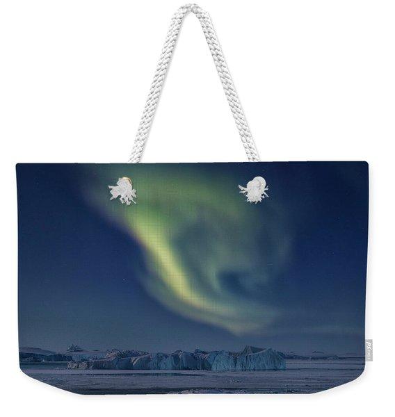 Aurora Borealis - Greenland Weekender Tote Bag