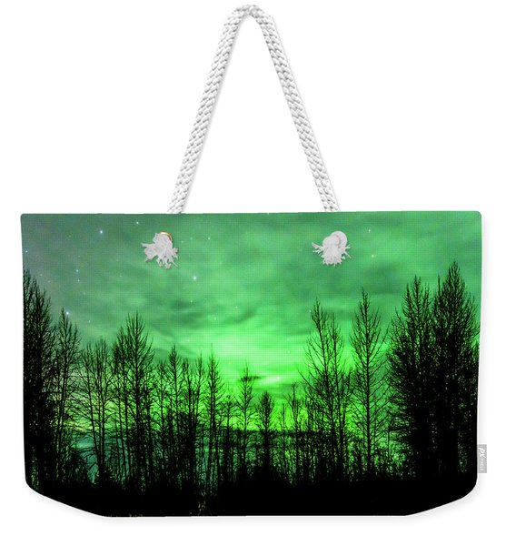 Aurora In The Clouds Weekender Tote Bag