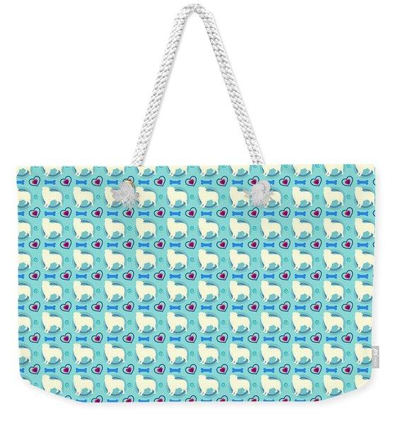 Aussie Dog Pattern Weekender Tote Bag