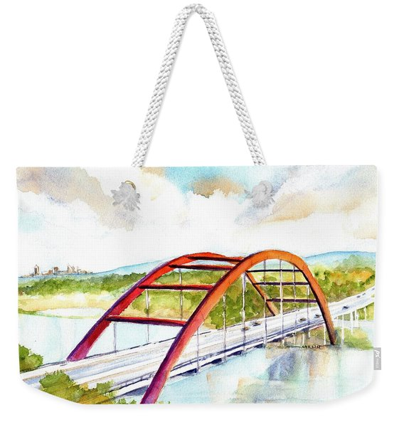 Austin 360 Bridge - Pennybacker Weekender Tote Bag