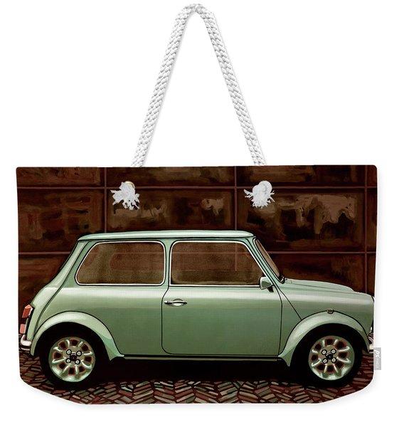 Austin Mini Cooper Mixed Media Weekender Tote Bag