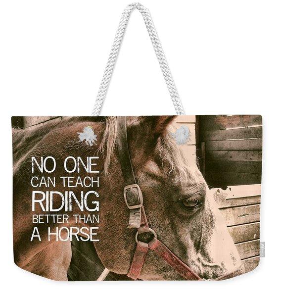 Austin Quote Weekender Tote Bag