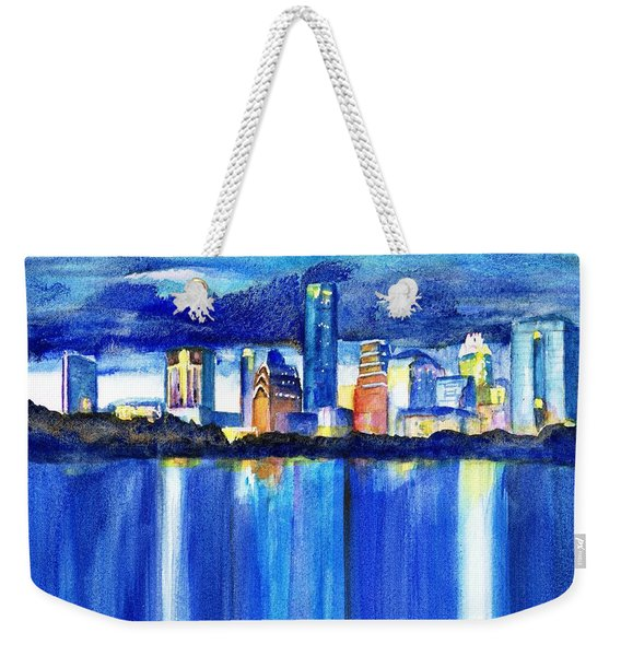Austin Skyline At Sunset Weekender Tote Bag