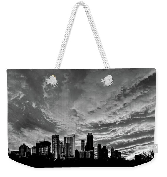 Weekender Tote Bag featuring the photograph Austin Skyline by Scott Cordell