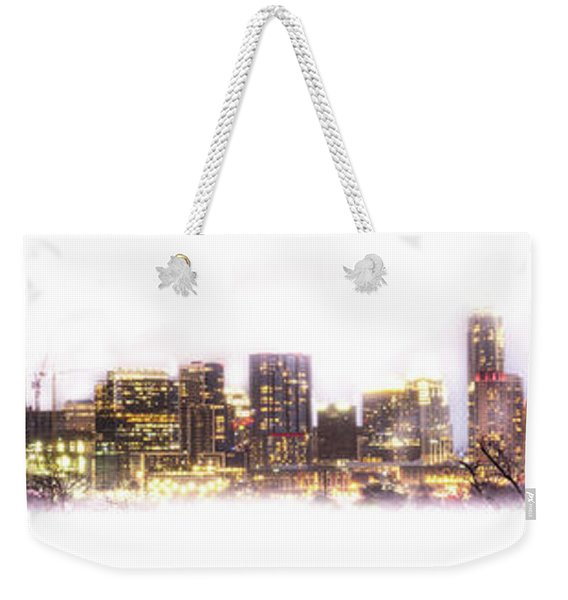 Austin Texas Skyline With White Blackground  Weekender Tote Bag