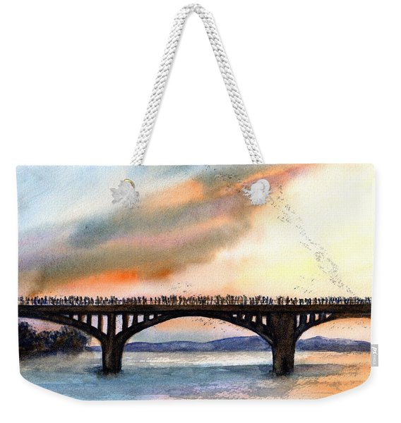 Austin, Tx Congress Bridge Bats Weekender Tote Bag