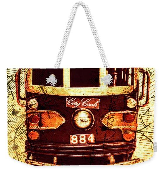 Australia Travel Tram Map Weekender Tote Bag