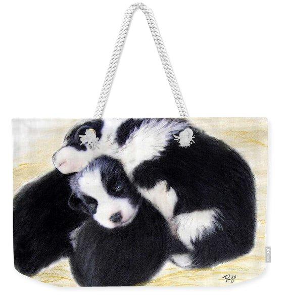 Australian Cattle Dog Puppies Weekender Tote Bag