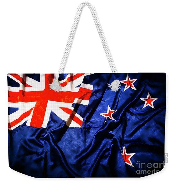 New Zealand Flag Art Weekender Tote Bag