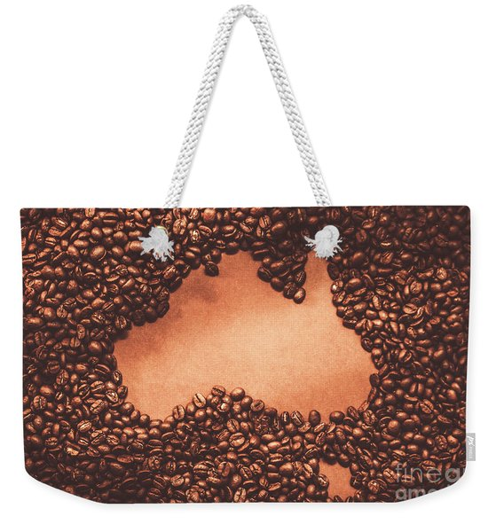 Australian Made Coffee Weekender Tote Bag
