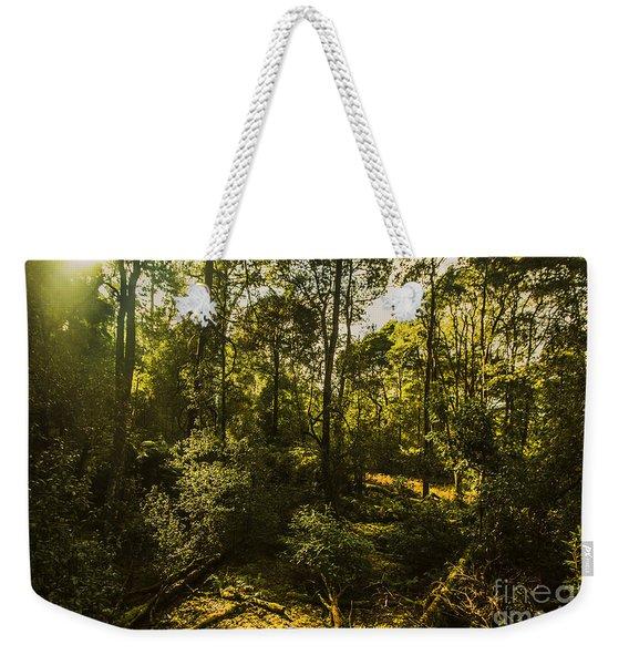 Australian Rainforest Landscape Weekender Tote Bag