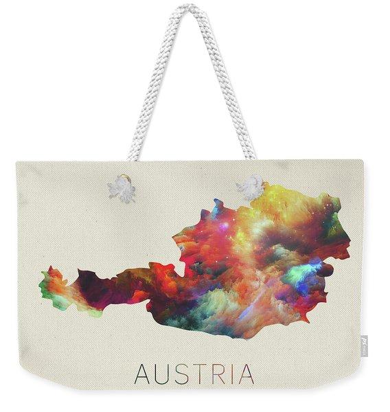 Austria Watercolor Map Weekender Tote Bag