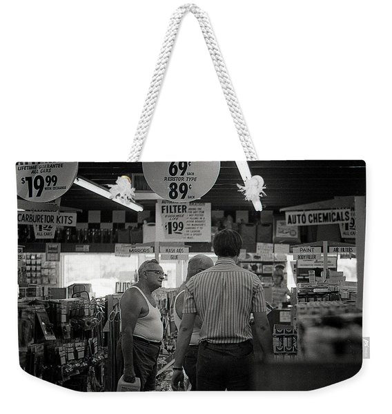 Auto-parts Store, 1972 Weekender Tote Bag