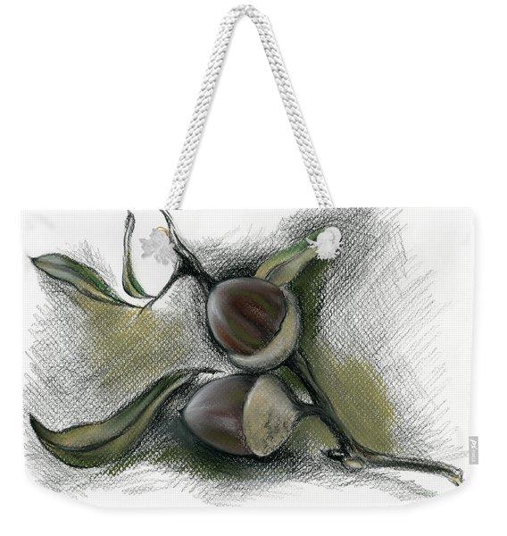 Autumn Acorns On An Oak Twig Weekender Tote Bag