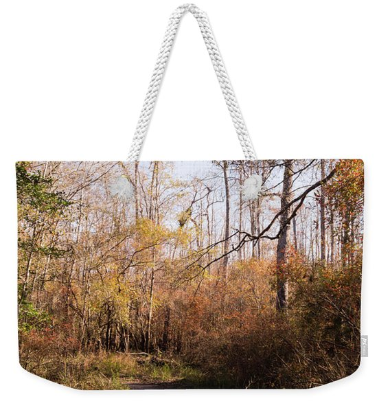 Autumn Afternoon On A Woodland Trail Weekender Tote Bag