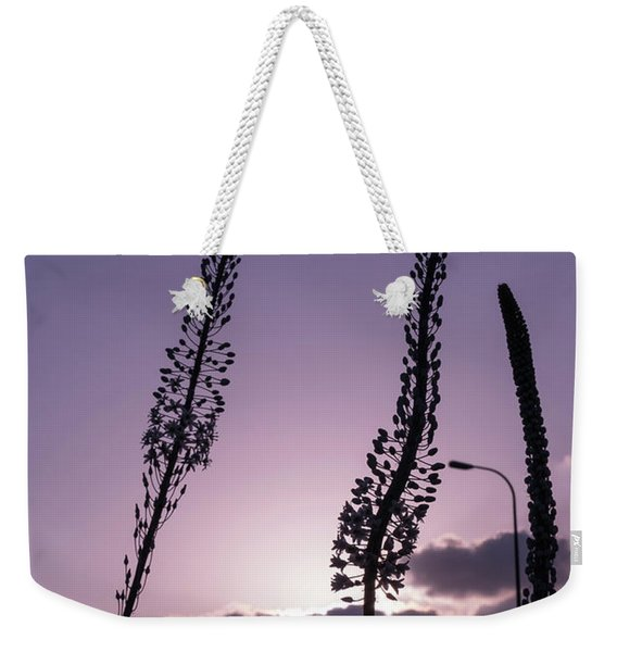 Weekender Tote Bag featuring the photograph Autumn Alarm by Arik Baltinester