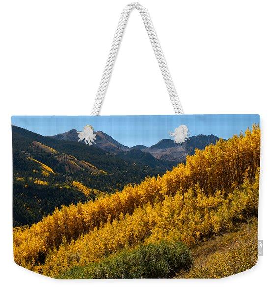 Autumn Aspen Near Castle Creek Weekender Tote Bag