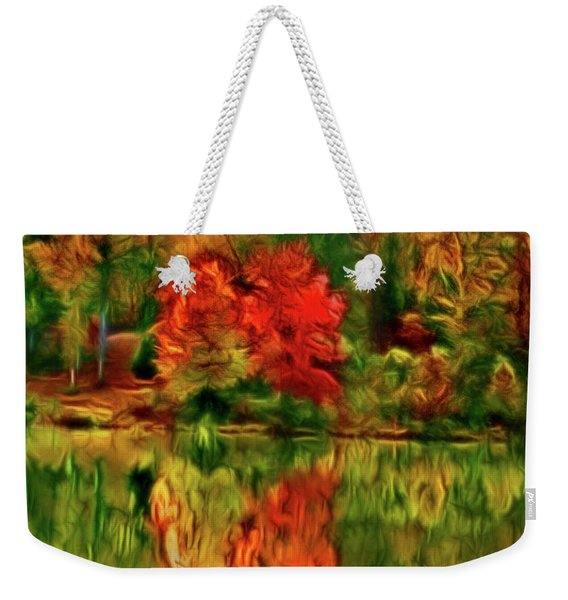 Autumn At The Lake-artistic Weekender Tote Bag