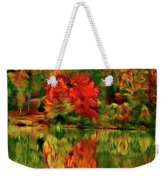 Autumn At The Lake-artistic Weekender Tote Bag