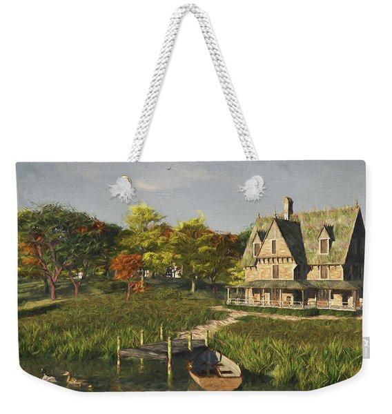 Autumn At The Lake Weekender Tote Bag