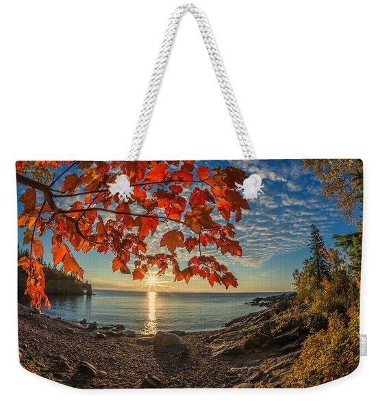 Autumn Bay Near Shovel Point Weekender Tote Bag