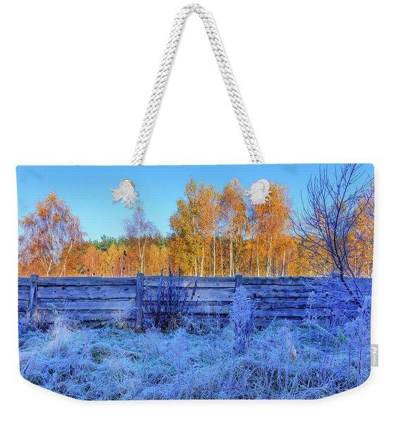 Autumn Behind Weekender Tote Bag