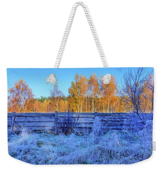 Weekender Tote Bag featuring the photograph Autumn Behind by Dmytro Korol